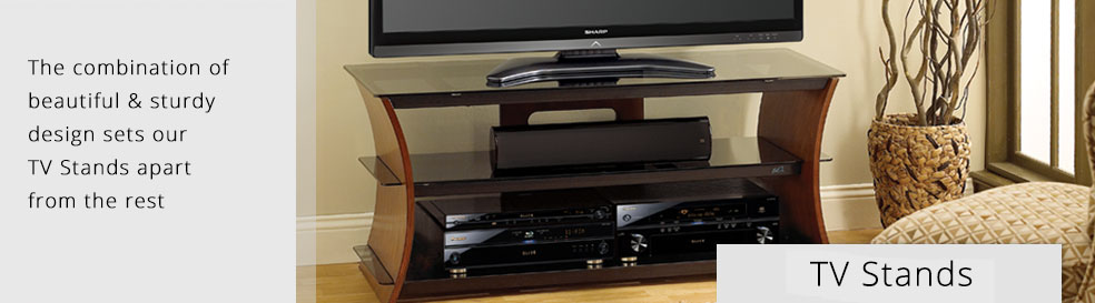 Modern TV stands with glass